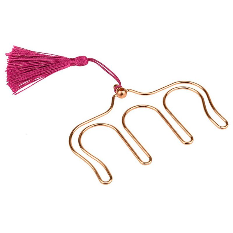 Music Book Clip Metal Bookmark Rose Gold Page Holder Paper Clip 2 Pack H0130