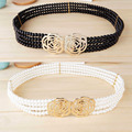 Hot-selling women's strap fashion all-match pearl wide belt belly chain p031