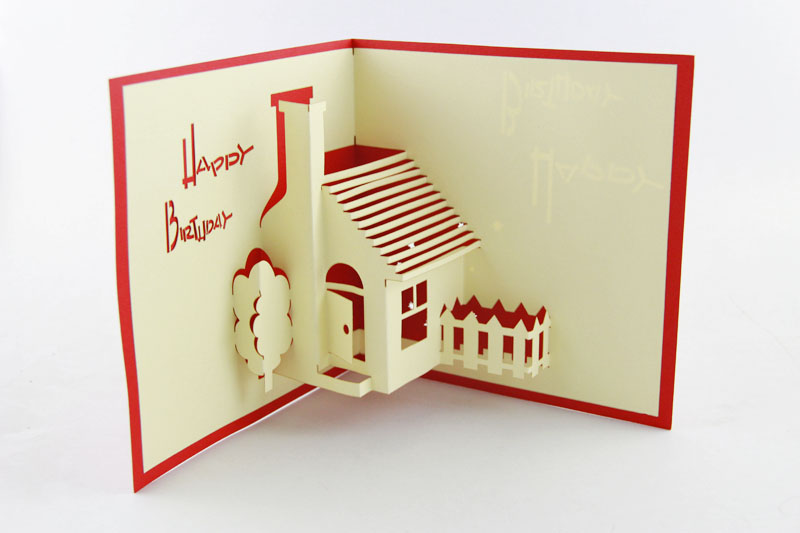 House Party Pop Up Greeting Card - House Warming Invite Pop-Up Birthday Card - 3D Birthday iclebo pop
