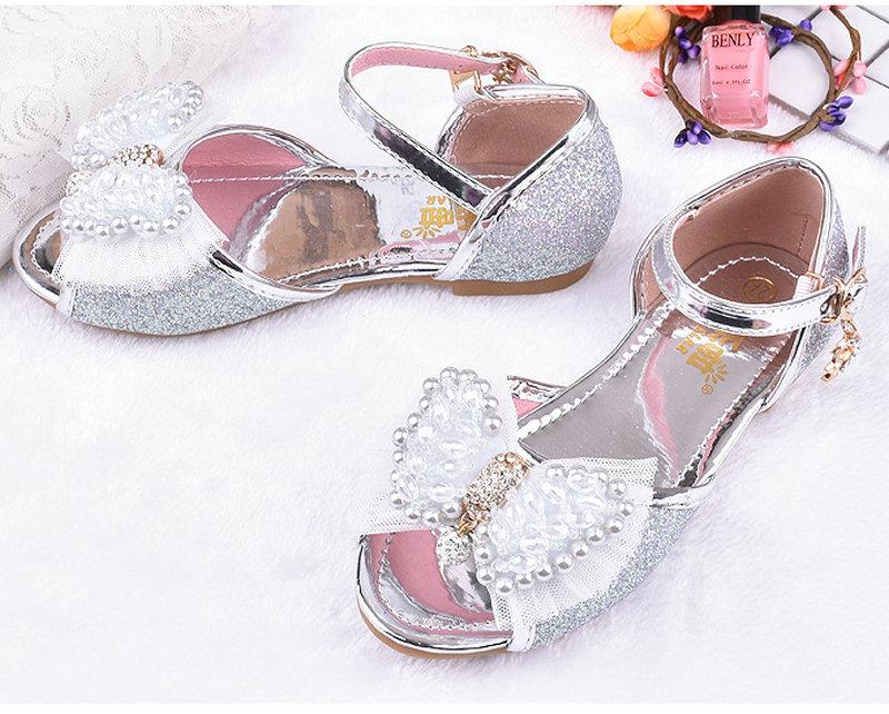 Heet verkoop zomer kinderen meisjes prinses sandalen bowtie partij - Kinderschoenen - Foto 5