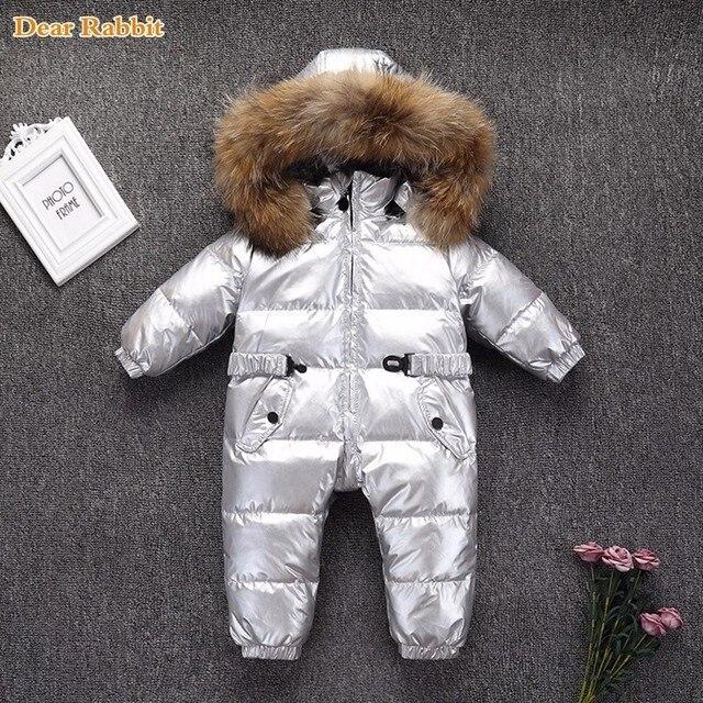 73473aa2f -30 grados abrigo de invierno mameluco niños ropa de bebé niño grueso bebé  niña ropa