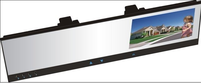 4.3 inch TFT LCD Color display  Car monitor rearview mirror wireless camera + DVR