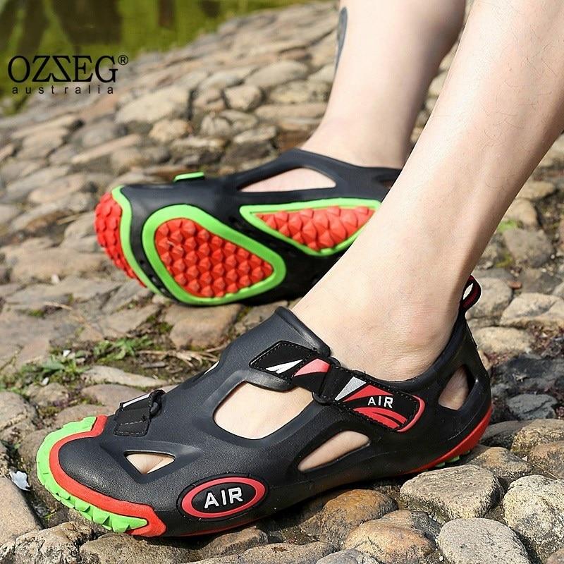 Men Shoes Summer Beach Sandals Outdoor Zapatillas Hombre Sapato Masculino Fashion Mens Slip on Shoes Soft Walking Sandals