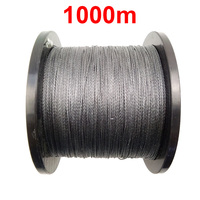1PC 1000m 1100 Yards 100 PE Braided Fishing Line Grey 4 Strands Braid Multifilament Super Strong