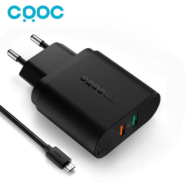 CRDC QC 3.0 Carregador Rápido 3.0 34.5 W, 9 v 12 v 2 portas usb carregador de parede para lg g5 iphone xiaomi qualcomm para samsung s7 note5