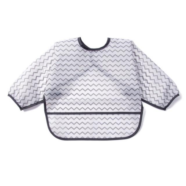 Baby Full Body Waterproof Jacket Long Sleeve Bib Letter Print Cute Novelty Feeding Bib
