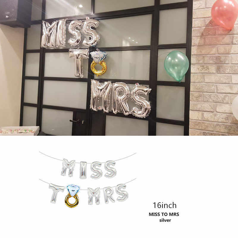 Large Bride Groom Wedding Decoration Balloon Team Bride To Be Mr Mrs Wedding Banner Bridal Shower Bachelorette Party Supplies