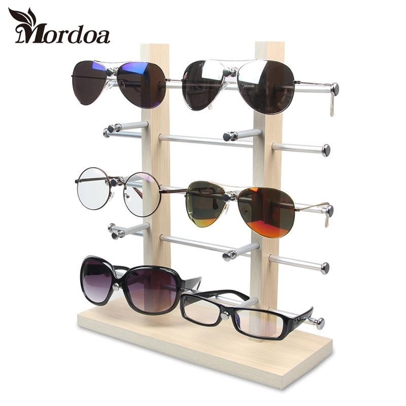 2017 Fashion Wood Sunglass Racks Glasses Display Stand Wood Shelf Stand For Sunglasses Jewelry Display Shelf rtbofy wood sunglasses for men and women skateboard wood frame shades oval shape glasses