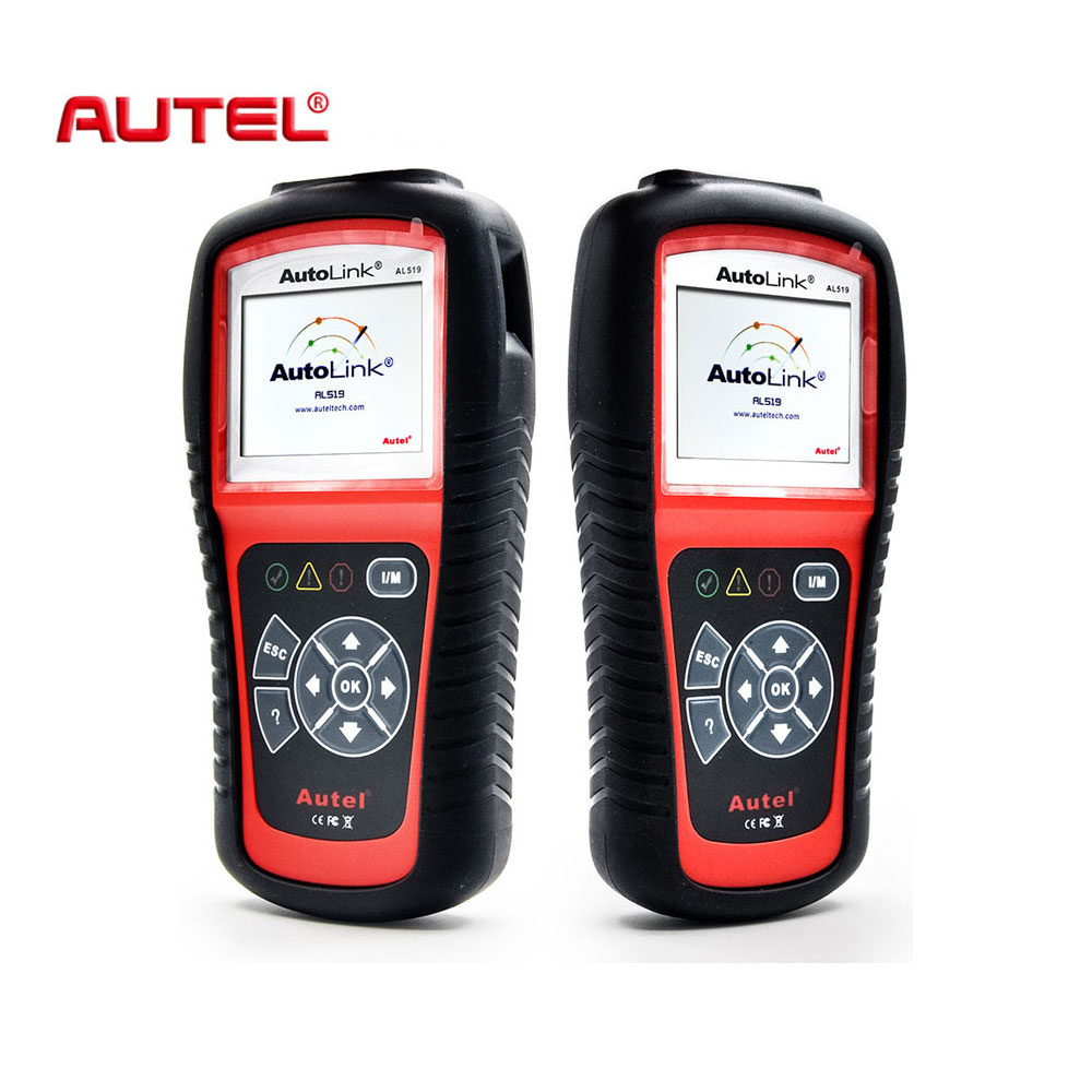Autel Autolink AL519 Universal OBD2 Scanner Car DTC Code Read Scan AL-519 OBDII Auto Diagnostic-Tool OBD 2 II Scaner PK MS509 car obd scan diagnostic interface scan tool blue