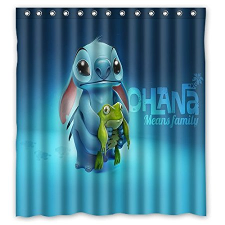 Bathroom Shower Curtains Stich Frog Style Decorations 180x180cm  Eco Friendly Waterproof Fabric Shower Curtain(