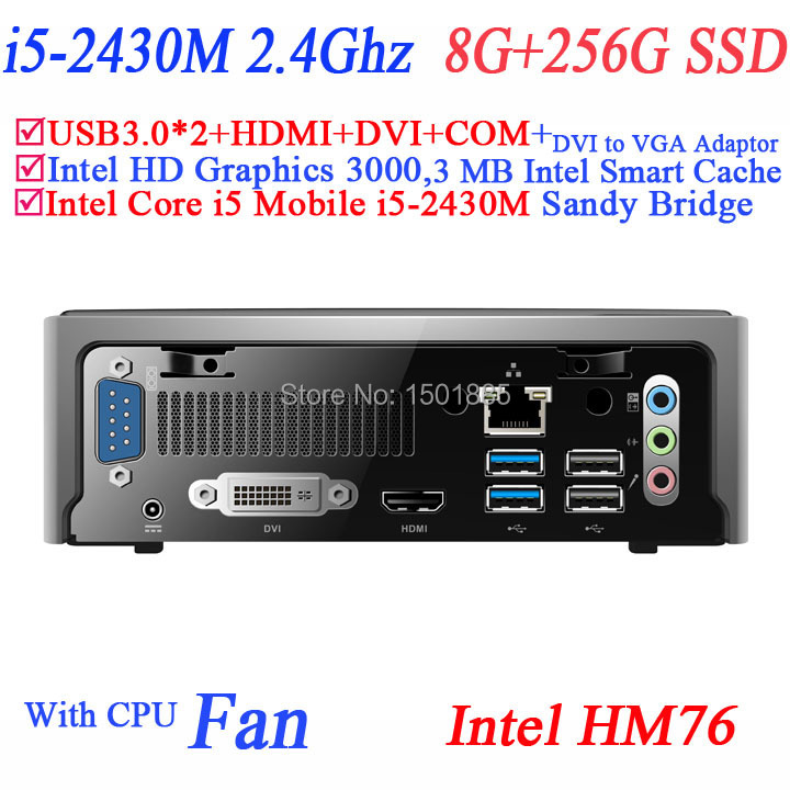 2015 new cheap china computers with Intel Core i5 2430M 2.4Ghz windows 8 mini pc 8G RAM 256G SSD