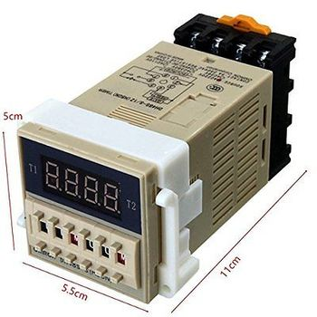 цена на 1PCS DH48S-S AC 220V repeat cycle SPDT time relay with socket DH48S series 220V
