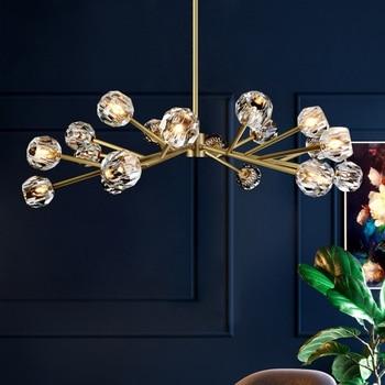 Postmodern LED Crystal chandelier lighting Nordic lamps luxury deco fixtures living room hanging lights bedroom luminaires