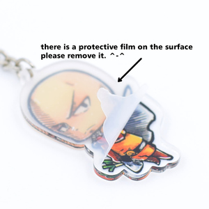 Image 5 - Saint Seiya Keychain Double Sided Cartoon Keyrings Cute Anime Acrylic Pendant Accessories PCB248 253