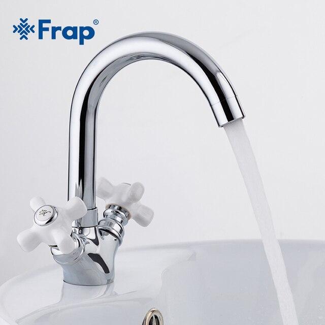 Frap Deck Montiert Badezimmer Becken Chrome Wasserhahn Bad Waschbecken  Wasserhahn Heißer Und Kaltem Wasser Mixer Torneira