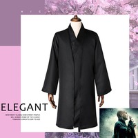 Harris Potter Lord Voldemort Cosplay Costumes Hallowmas Men's and women's stage costumes Lord Voldemort Long black cloak Top