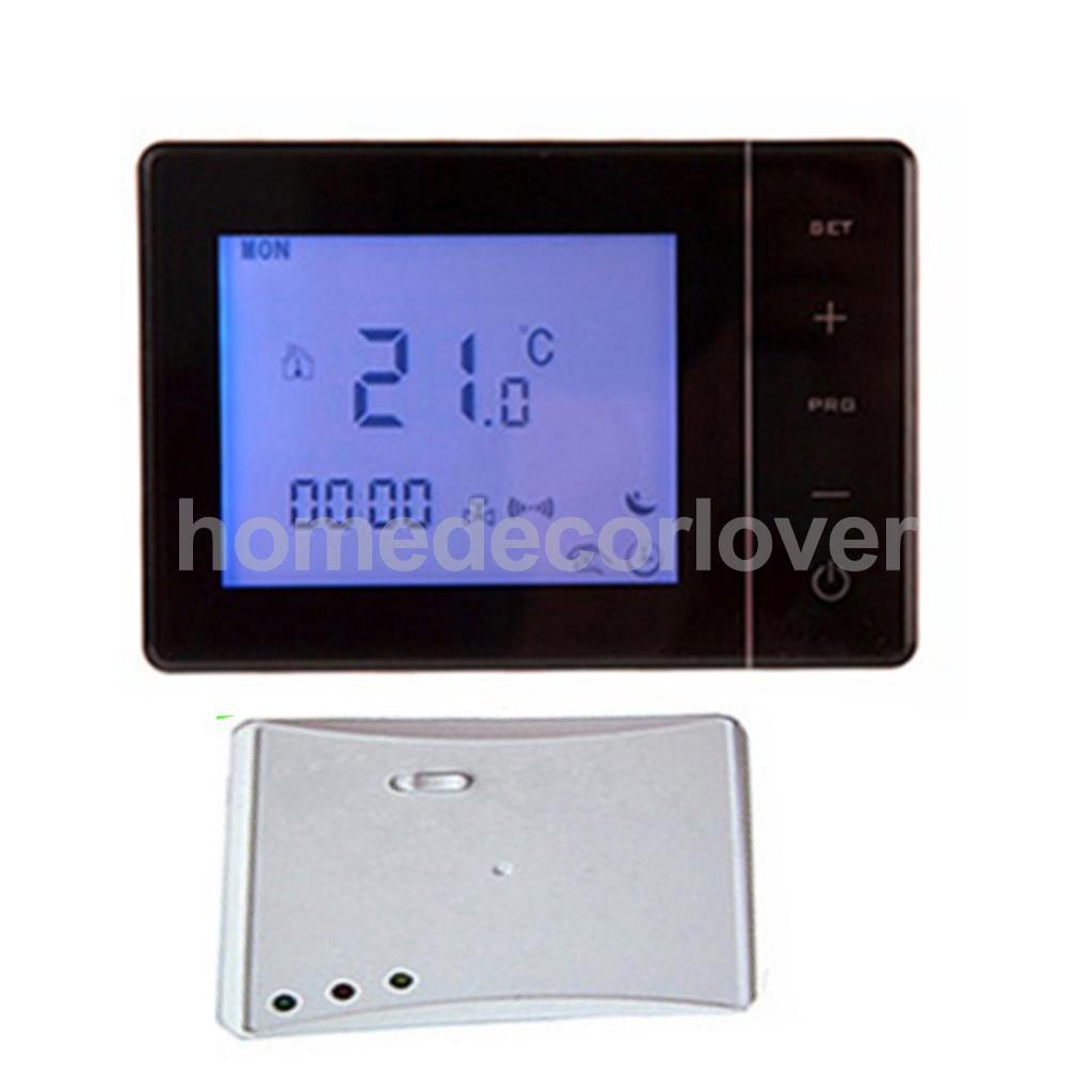 HY01RF RF Thermostat d'ambiance sans fil mur chaudière à gaz chauffage télécommande enfants verrouillage de sécurité vacances Mode capteur NTC