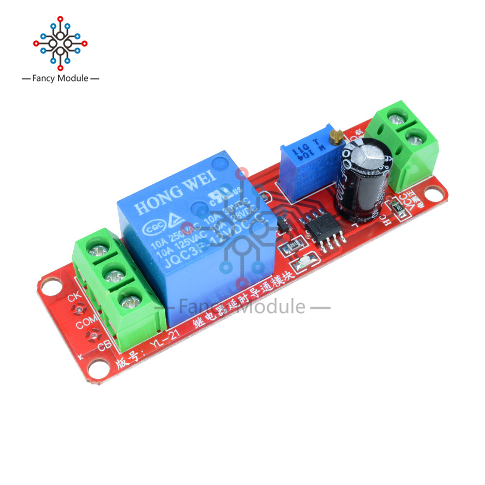 DC 5V NE555 timer switch adjustable module 0-10s time delay relay mod DO ^D