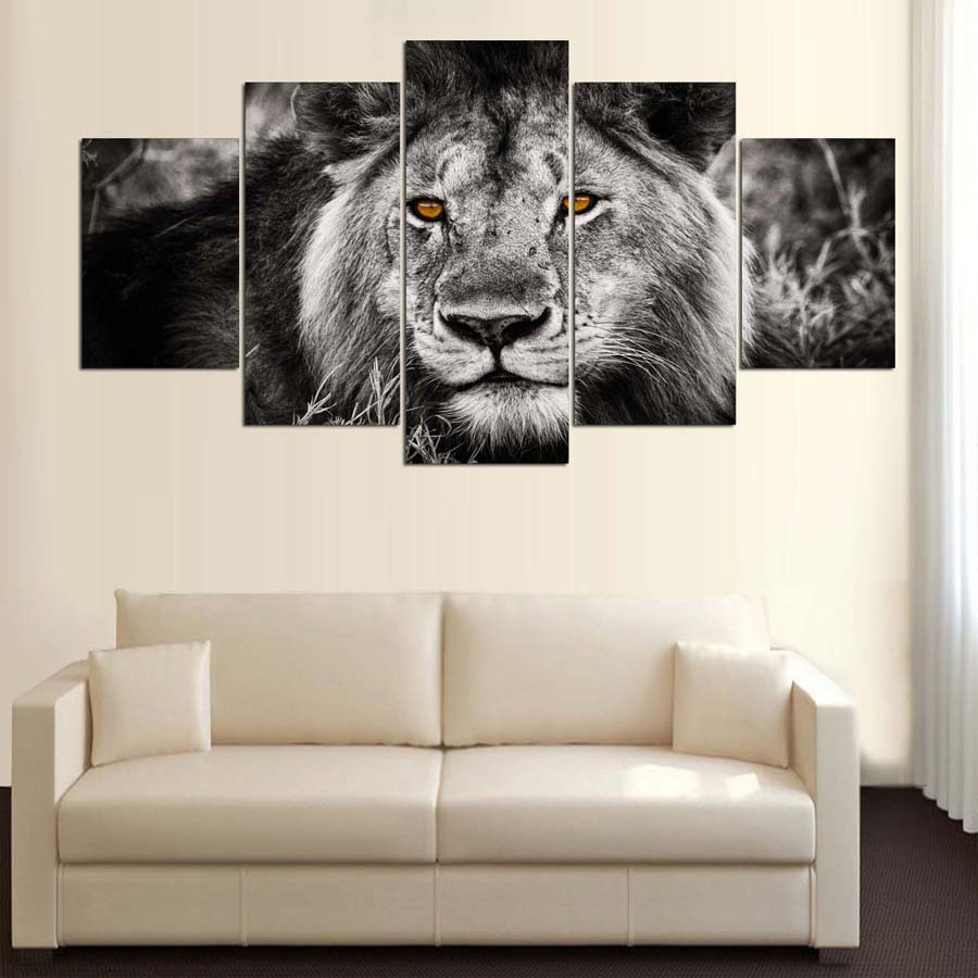 Wall Art Canvas HD Prints Pictures Modular Framework 5 Pieces ...