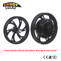 electric bicycle motor wheel 12inch 36V/48v 250w Brushless Non Gear Hub Motor With Front Wheel Kits For Electric Folding Bicycle