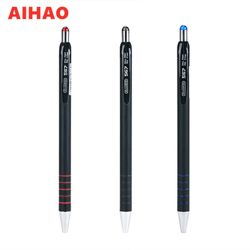 US $2 8  2019 New Arrival Brand Retractable Smooth Writing Ballpoint Pen  4pcs/lot Office Supply Free Shipping-in Ballpoint Pens from Office & School