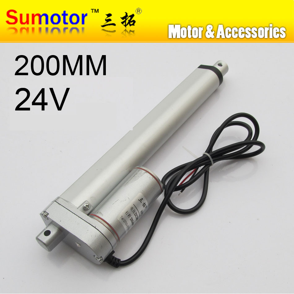 H200 8 stroke 200mm travel Electric linear actuator DC motor DC 24V 10mm/s Heavy Duty Pusher 90Kg for care bed windows opening ys 138no nc ansi standard heavy duty electric strike size 124 x 32 x 33 mm