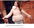 2016 Genuine Leather Women Jacket With Real Fox Fur Collar Lamb Fur Coat Winter Warm Nice thick coats