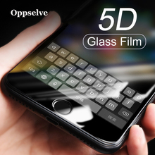 Oppselve 5D Tempered Glass For iPhone XS Max XR X 10 8 7 Screen Protector Plus Full Cover Curved Edge Film