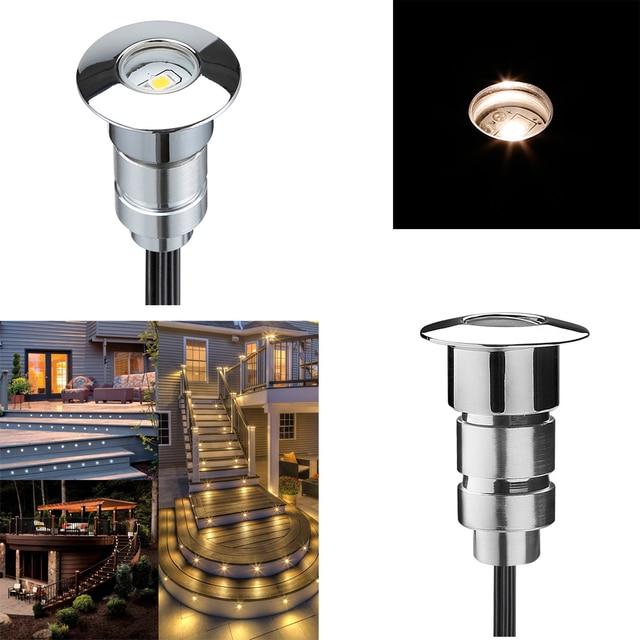 Modern 12V Mini Outdoor Recessed Led Stair Light Corridor Lighting Decor  Interior/Exterior Step Lights