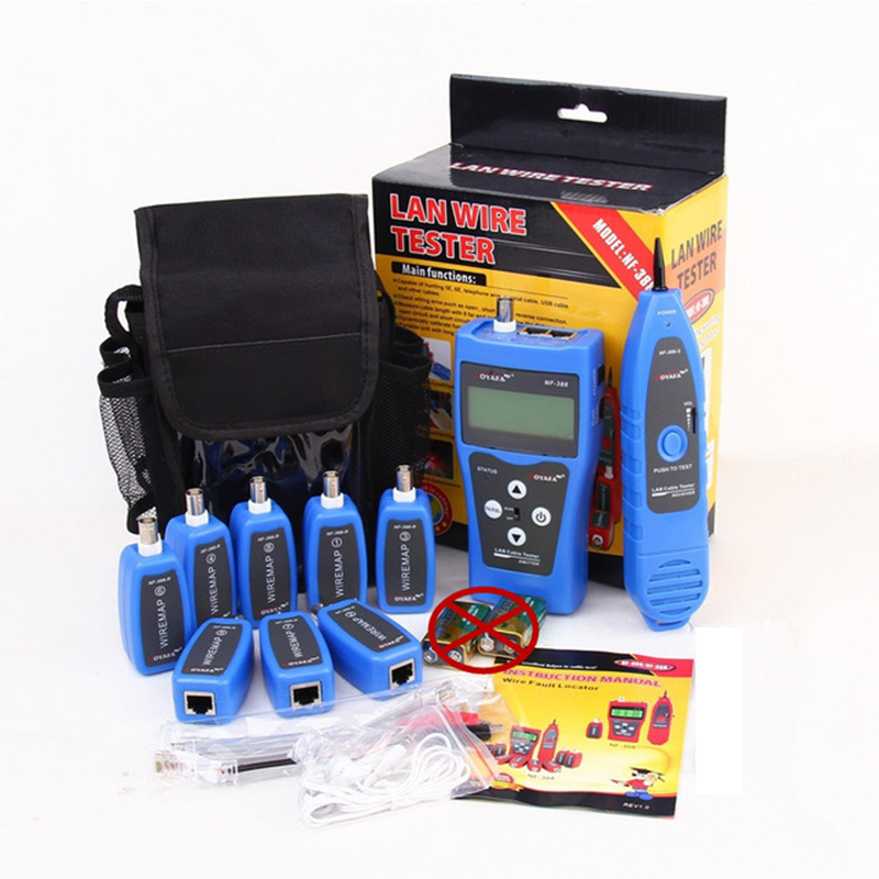 Original Noyafa NF 388 Blue English Version Multi functional Network cable tester Cable tracker RJ45 lan