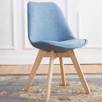 Современный дизайн твердой древесины обеденный стул Досуг современный простой спинки творческий бытовой стул в стиле кофе