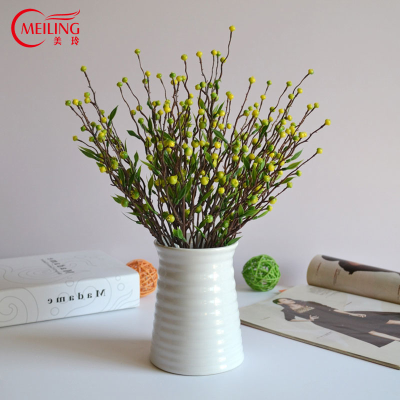 Meiling Modern Tabletop Pure Ceramic Vases White Small Glazed China