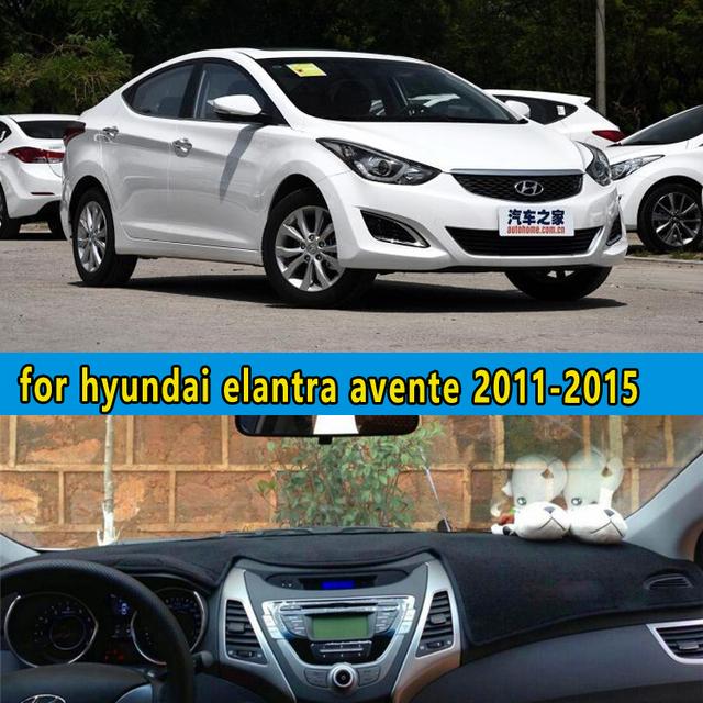 Carro-styling dashmats acessórios tampa do painel para hyundai avante elantra i35 fludic neo 2004 2008 2012 2013 2014 2015 2016