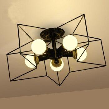 Retro Creative Metal Flush Mount 1/5 light ceiling lamp Cafe Bar Ceiling Chandelier Fixure lamparas de techo modernas led