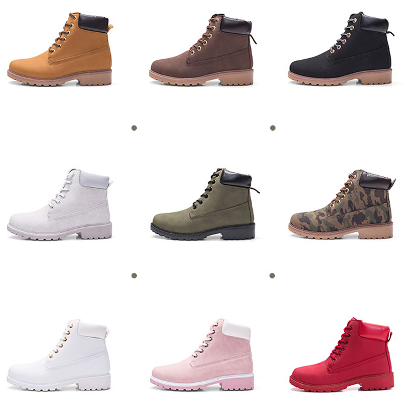 Image 5 - ERNESTNM 2019 Autumn Winter Shoes Women Plush Snow Boot Heel Fashion Keep Warm Women's Boots Woman Size 36 42 Ankle Botas Pink-in Ankle Boots from Shoes