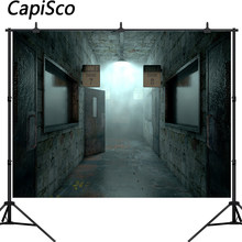 Capisco 3D Corridor Backdrop Horror Empty Hospital room Photography Background Halloween Party Decorations Photo Studio Props(China)