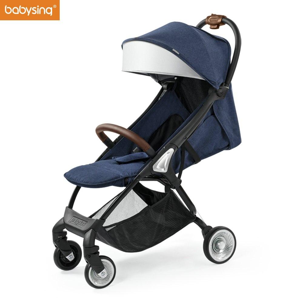 Распродажа Babysing E-GO Детские коляски для новорожденных легкий складной все сезоны Роскошные детские дорожные коляски легкие коляски