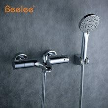 Beelee высокое качество chrome настенные ванная термостатический смеситель, термостатический клапан ванная, смеситель для душа, ванной кран