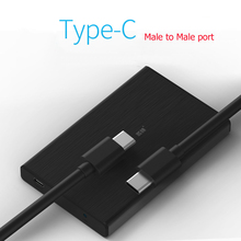 wholesale Type-c M to M port HDD enclosure support 7mm/9.5mm thickness 2.5inch hard disk SSD metal case