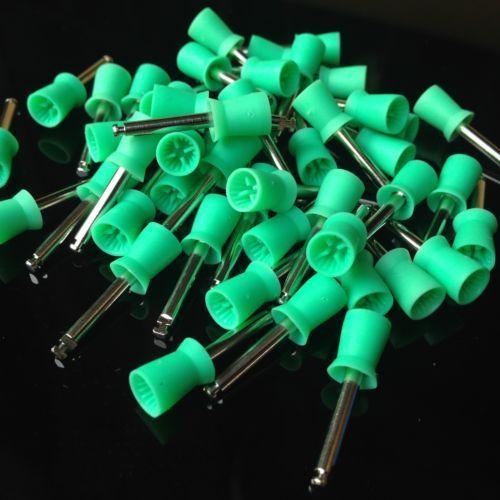 100 PCS Dental Prophy Polandia Polishing Cup Brush Berselap Jenis - Kebersihan mulut