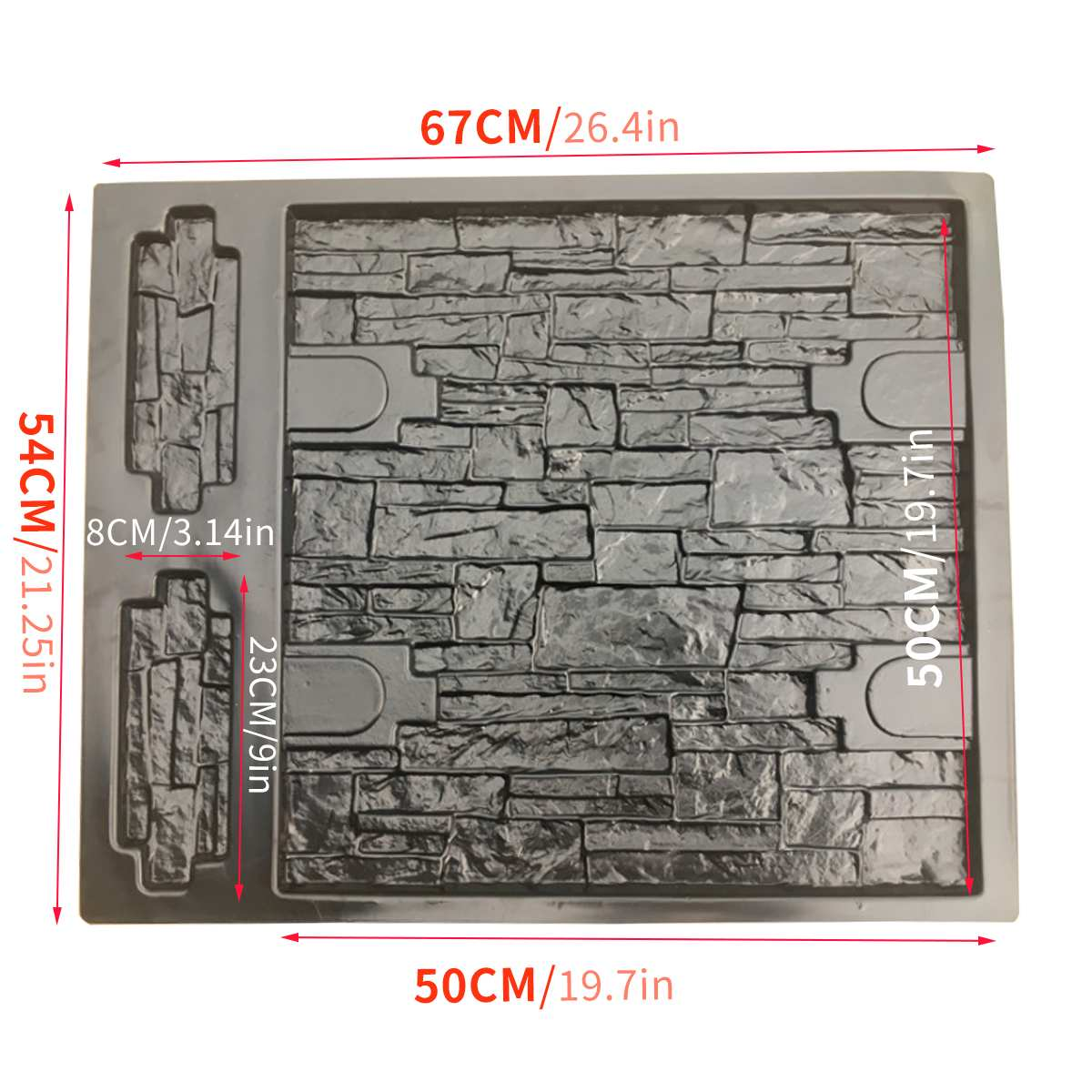 67*54*2CM Garden Path Maker Mold Wall Decor Irregular Model Concrete Stepping Stone Cement Mould Brick DIY Home Garden Tools