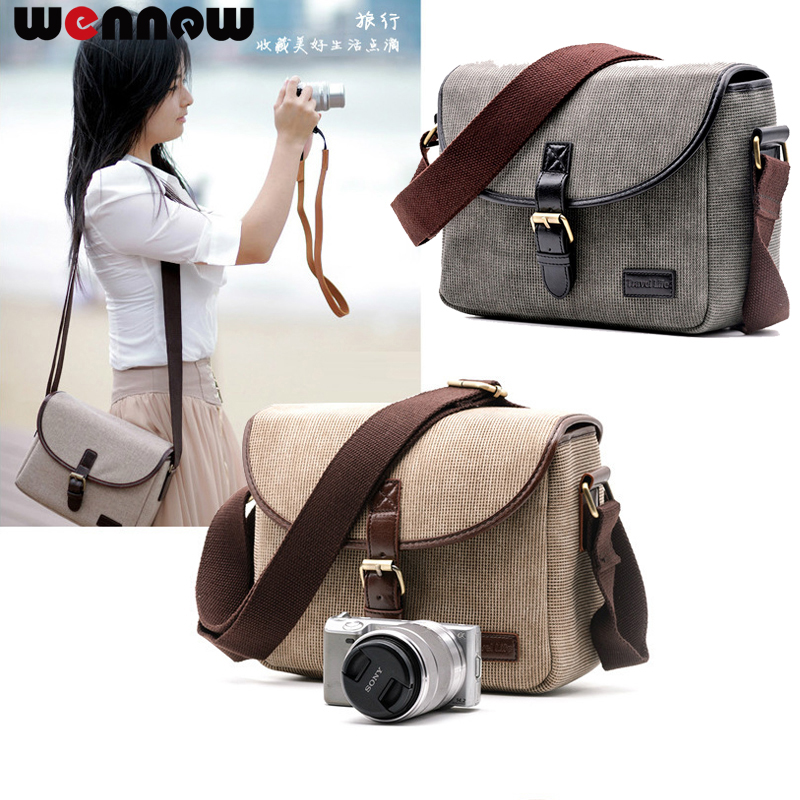 Wennew Retro Camera Bag Photo Case For Sony Alpha A9 A7 A7R A7S Mark II III NEX-7 NEX-6 NEX-5T A6500 A6300 A6000 A5100 A5000