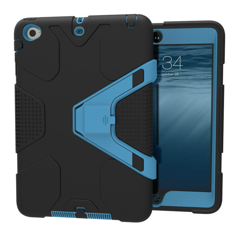 For ipad 2017 <font><b>case</b></font> robot <font><b>Kids</b></font> Safe Shockproof Heavy Duty PC Hard Cover kickstand design For Apple ipad 2018 Protective cover image