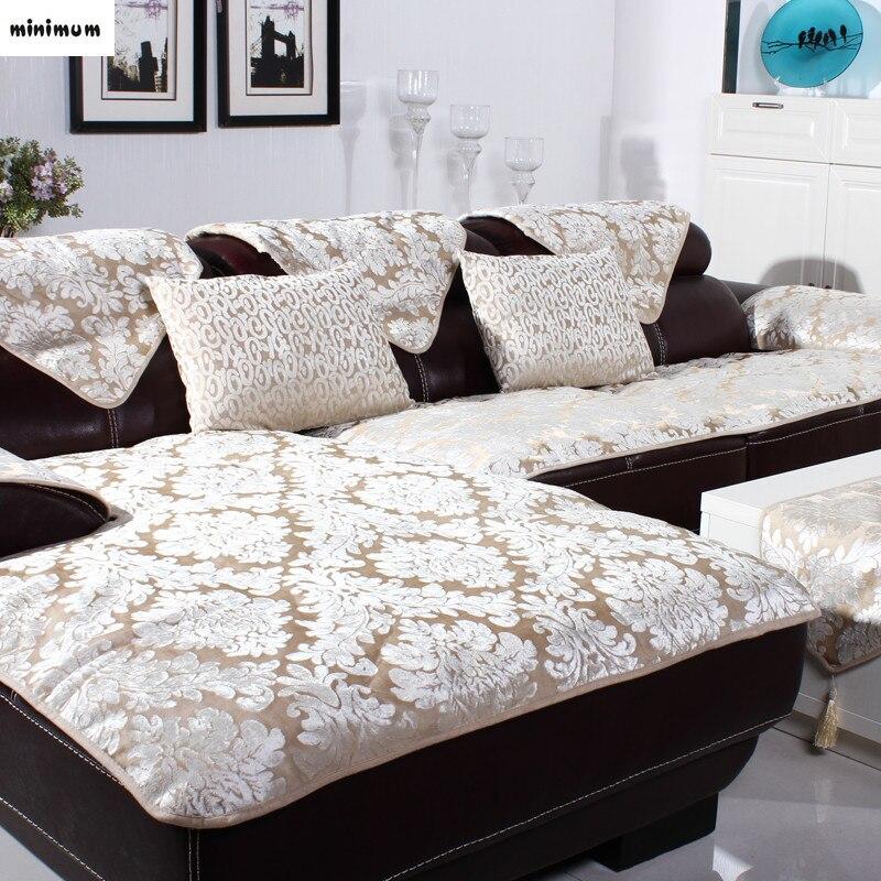 European Versailles sofa cushion Leather sofa towel Custom summer non slip and winter plush sofa cover Fashion sofa towel in Sofa Cover from Home Garden
