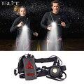 2200 мА · ч безопасные ночные уличные спортивные ходовые огни L2 светодиодный ночной фонарь для бега предупреждающие огни Велоспорт USB зарядка...