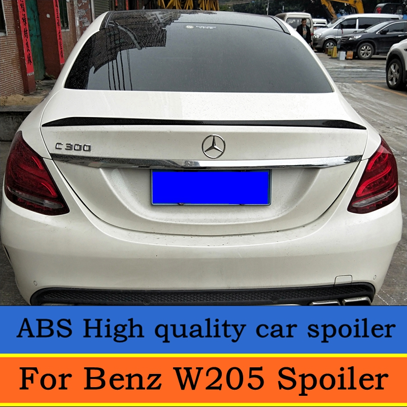 For 2015-2018 Mercedes Benz <font><b>W205</b></font> <font><b>Spoiler</b></font> C-class C180 C200L C63 <font><b>Spoiler</b></font> High Quality ABS Car Rear Wing <font><b>Spoiler</b></font> image