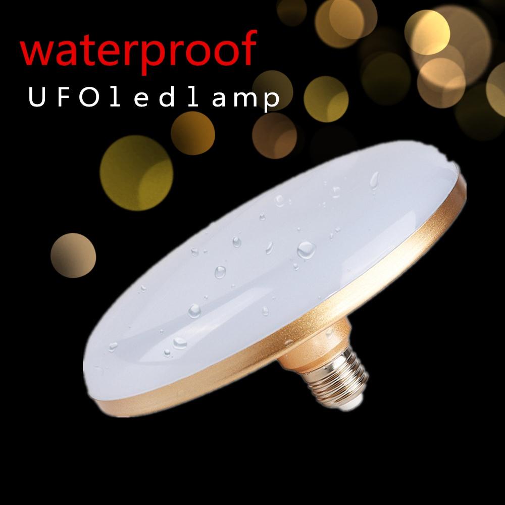 High Power E27 Energy Saving LED Lamp 15W 20W 30W 40W 50W SMD 5730 Flat LED Light Bulb 220V E27 UFO LED Light For Home Lighting