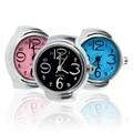 1 pcs Anel de Dedo Moda Criativa Aço Redonda Elastic Quartz Relógio de Senhora Menina presente de Natal 2014 new Hot!