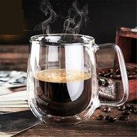 250ML High Quality Double Wall Glass Mugs Fashion Mug With Handle For Tea Milk Coffee Cup