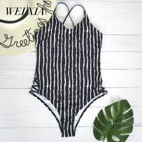 WEIXIA 2018 NEW Arrival One Piece Swimsuit Swimsuit 9005 Women High Waist Bikini Set Padded Swimwear